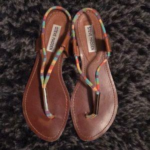 Steve Madden Rainbow Thong Sandals